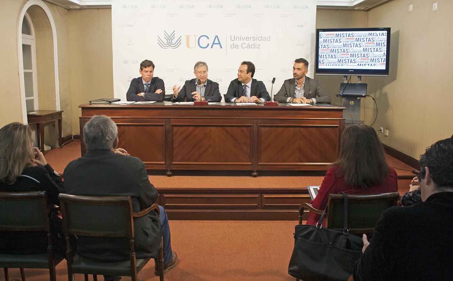 Presentación del proyecto inconformistas a los medios de comunicación, aparecen los representantes de la UCA y Ivan Llanza del Grupo Osborne.