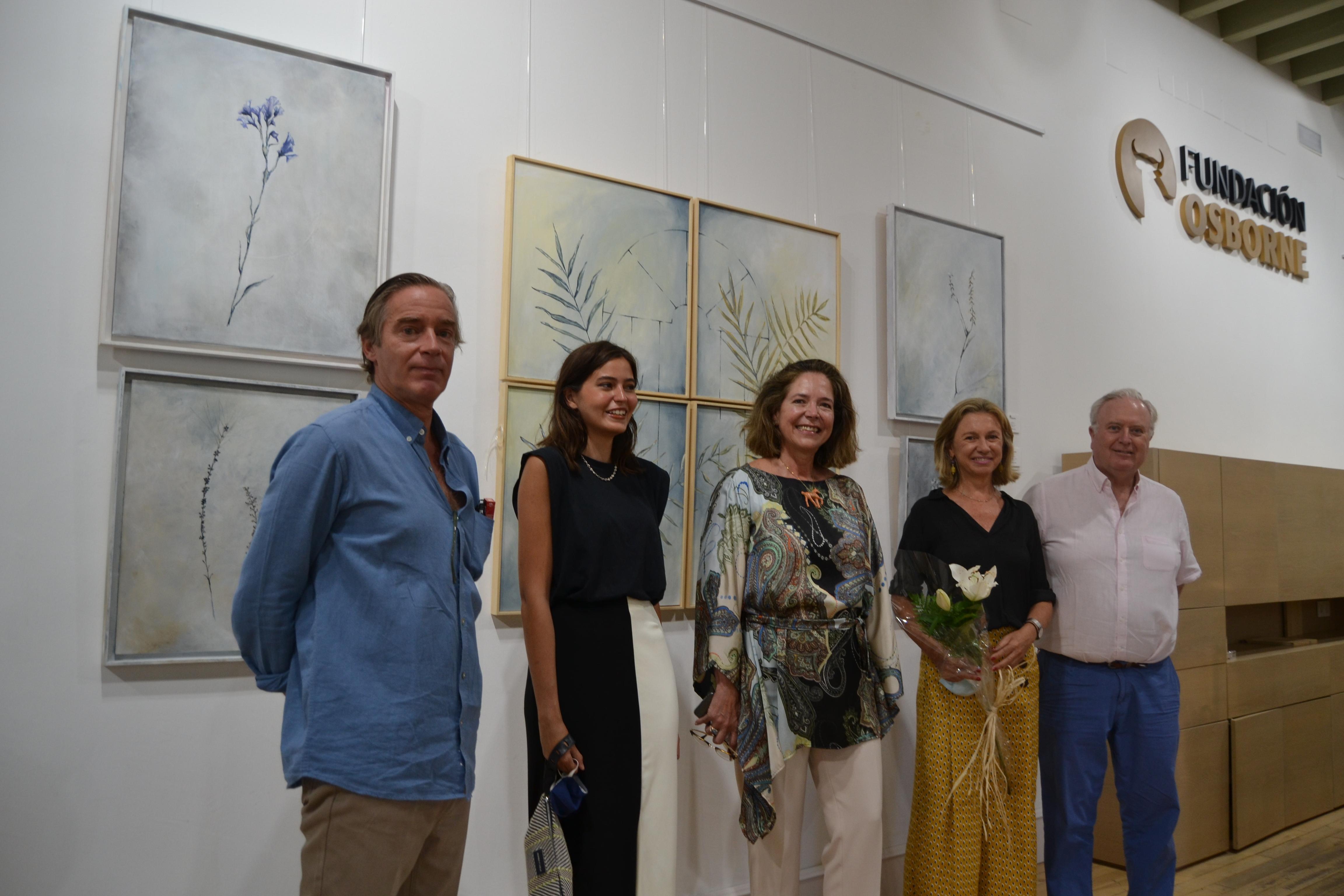 Tomas Osborne (presidente Fundación Osborne), Maria Luisa Peman, Angelika Popcev,Mercedes Alba y David Maldonado.
