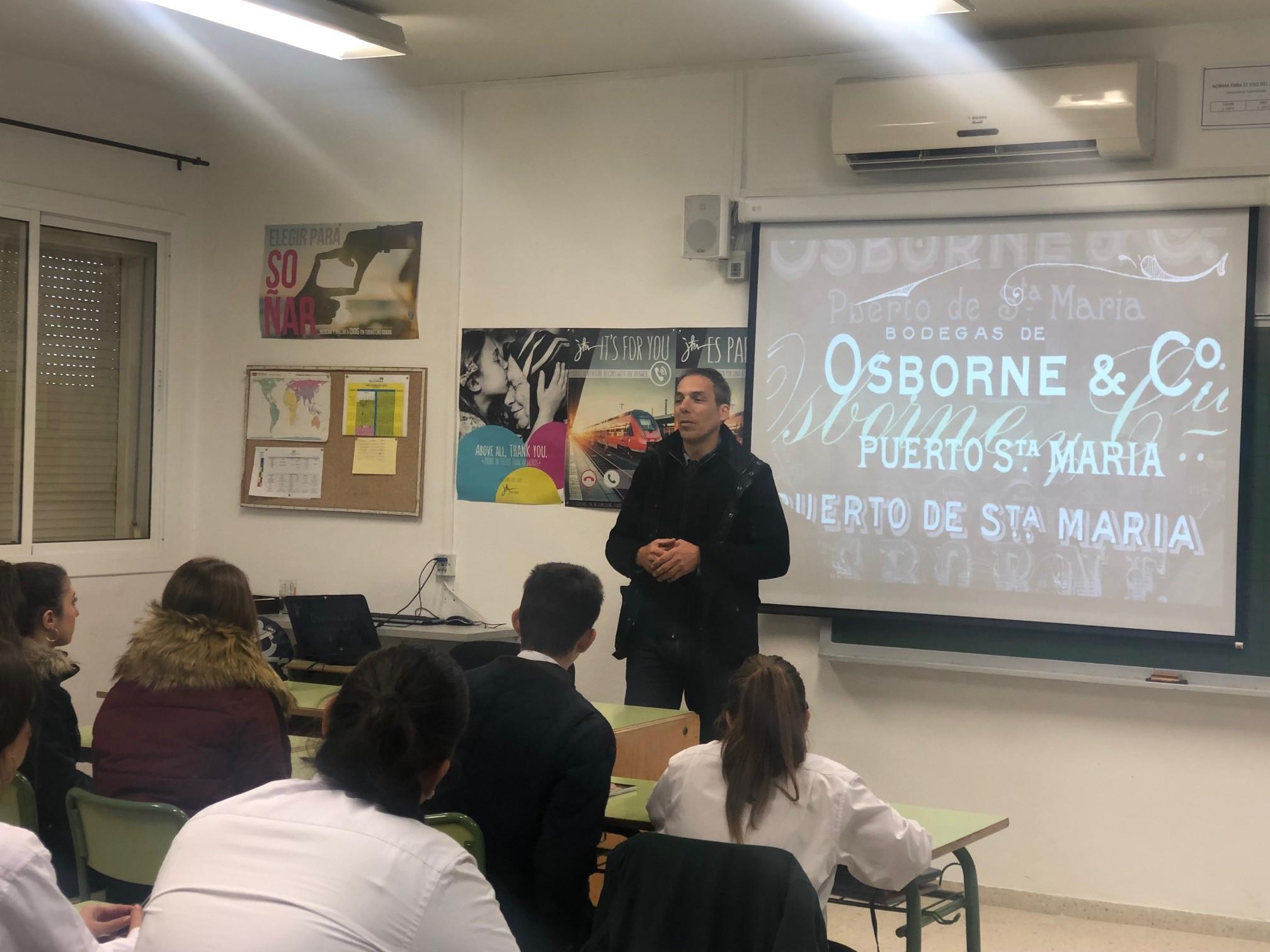 Primera MasterClass de Osborne para alumnos de 2º Curso de FPB